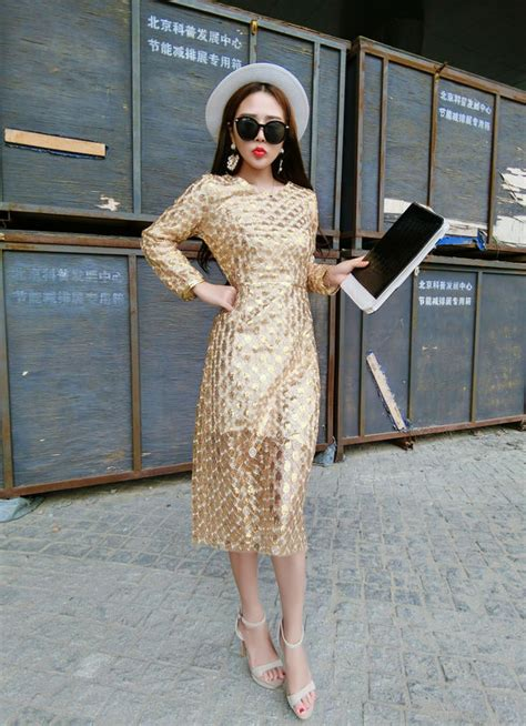 Noble Style Dress golden noble style embroidery sleeve wrap dress