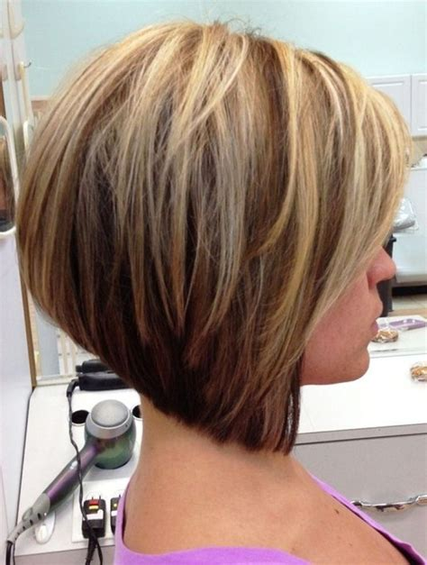 layered stack bob stacked inverted bob hairstyles stacked layered bob