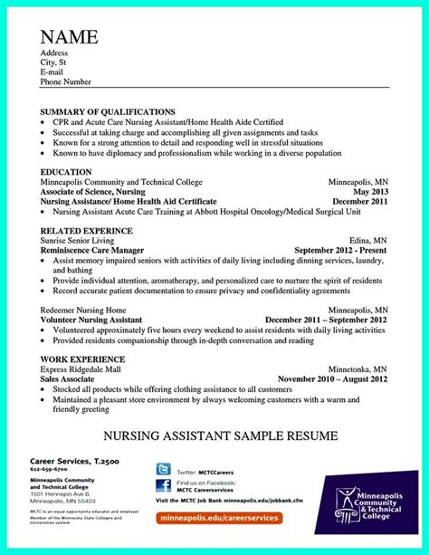 resume tips for nurses writing certified nursing assistant resume is simple if
