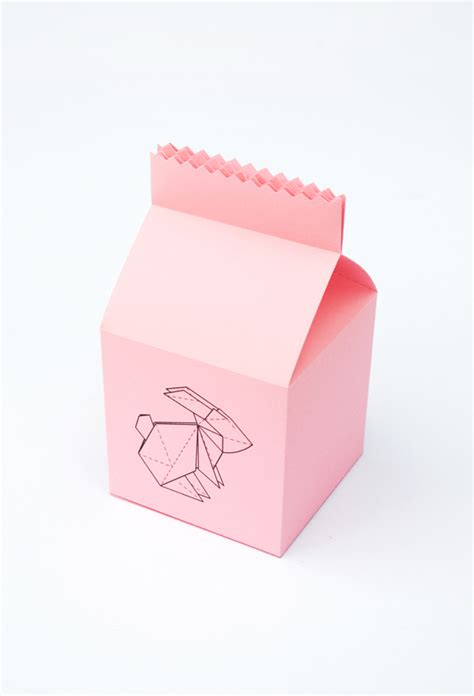 Origami Bunny Box - easter origami bunny treat box minieco