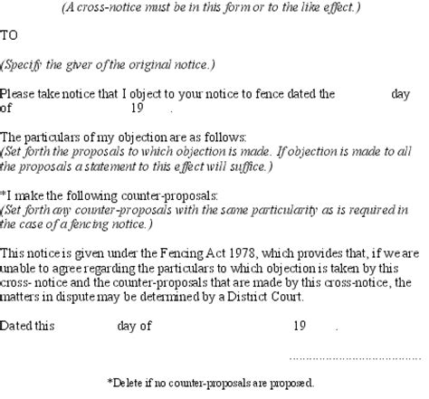 Letter Of Agreement Between Neighbors Fencing Act 1978 No 50 As At 01 August 2008 Act New Zealand Legislation