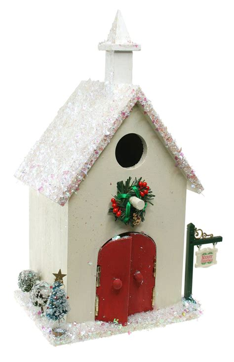 christmas church birdhouse sparrow innovations