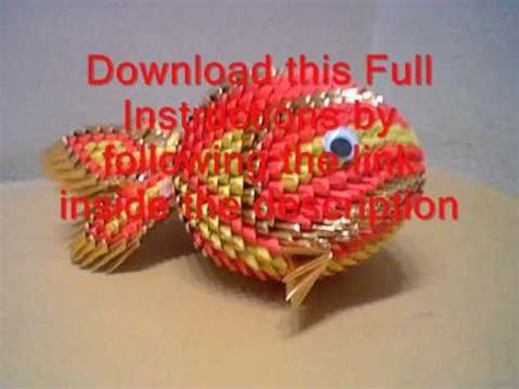 origami 3d fish tutorial origami 3d tutorial koi fish youtube