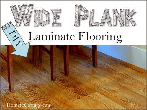 Diy Laminate Flooring Diy Wide Plank Laminate Flooring Hometocottage