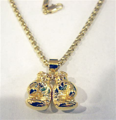 14 kt yellow solid gold boxing gloves jewelry pendant ebay