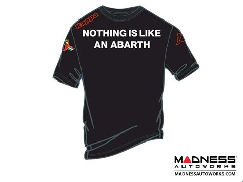 abarth t shirt quot nothing like an abarth quot black fiat