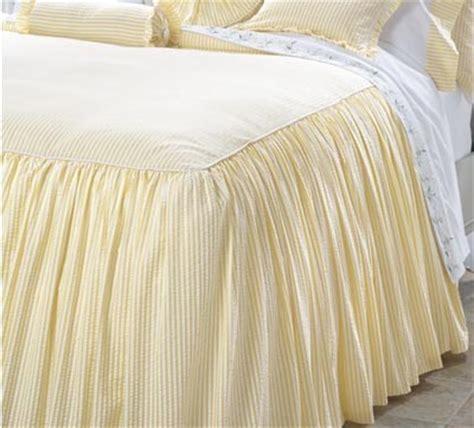 seersucker bedspreads gathered seersucker bedspread contemporary bedding by cuddledown