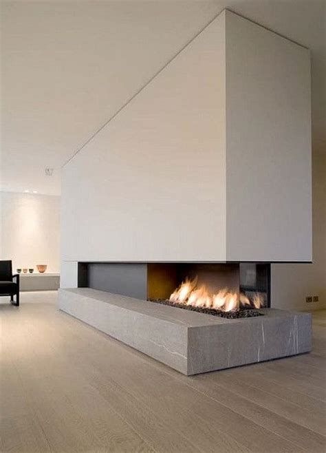 modern sided fireplace awesome sided fireplace home and furnishing