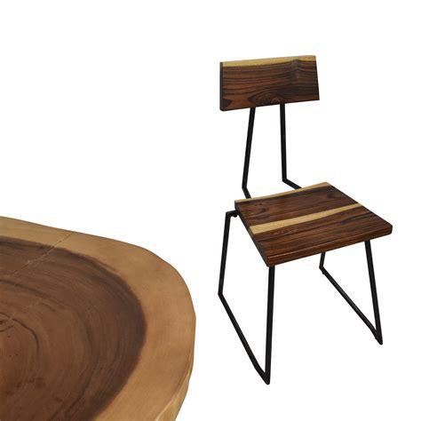 53 rustic wood slab table set tables