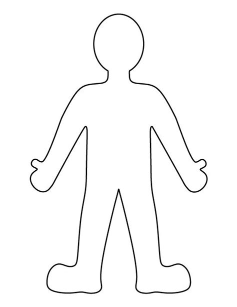 cut out person template person pattern use the printable outline for crafts