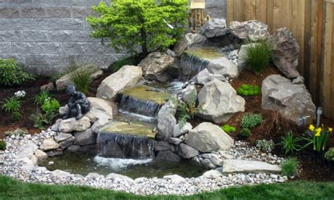 Small Backyard Waterfalls by Small Garden Waterfalls Prefab Waterfalls Small Backyard