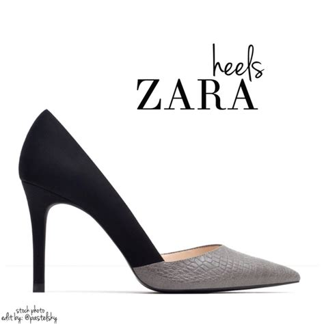 Zara Shoes Skin Black White by Zara Zara Crock Point Heels From S Closet On Poshmark