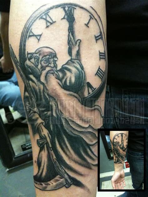 father time tattoo time