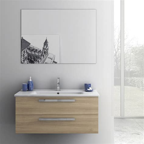 38 Inch Bathroom Vanity Modern 38 Inch Dadila Vanity Set With Ceramic Sink Glossy White Zuri Furniture