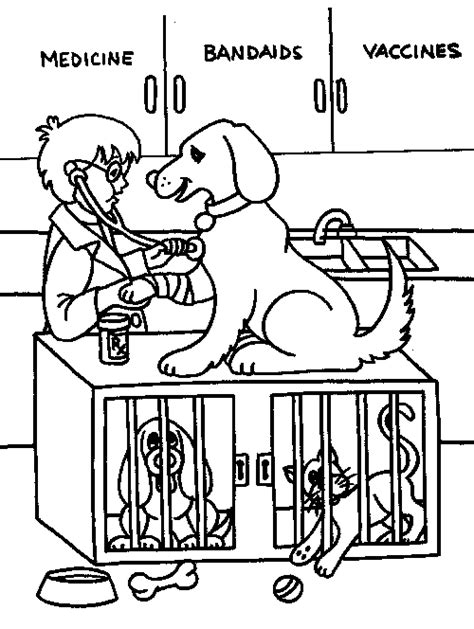 coloring pages veterinarian drawings of veterinarians coloring pages