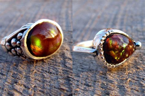 how to make agate jewelry made his and hers agate rings in sterling silver