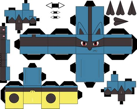 Lucario Papercraft - lucario cubeecraft cubeecraft search