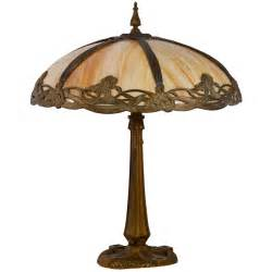 Modern Furniture Austin by Victorian Bent Slag Glass Table Lamp At 1stdibs