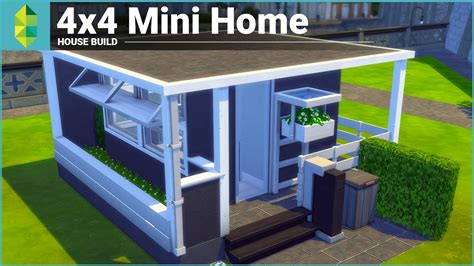 The Sims 4 House Building   4x4 Mini Home   YouTube