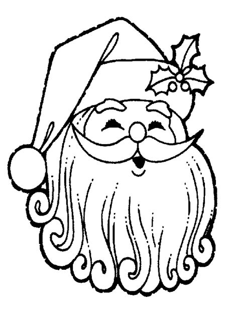 coloring pages father christmas cartoon santa face cliparts co