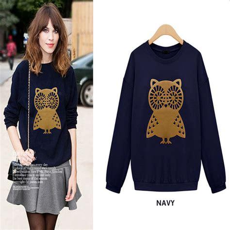 design a shirt with sleeve print aliexpress com buy new design fashion brand printed owls