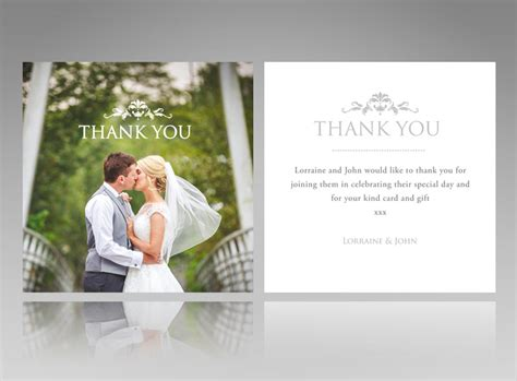Thank You Cards Template Wedding Back by Photo Best Wedding Thank You Cards