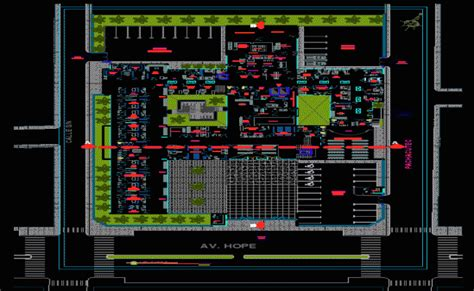layout working dwg hospital building working drawings dwg