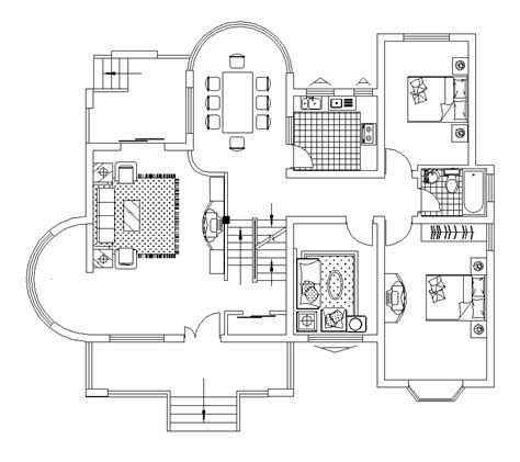 free floor plan layout 2d cad house floor plan layout cadblocksfree cad blocks