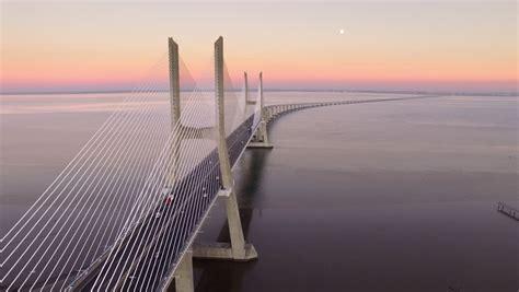 vasco da gama bridge  stock footage video