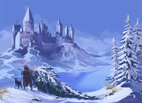 harry potter winter at 1406376086 hogwarts in winter by kseniya 169 2013 harry potter 2001 2011 hogwarts fans