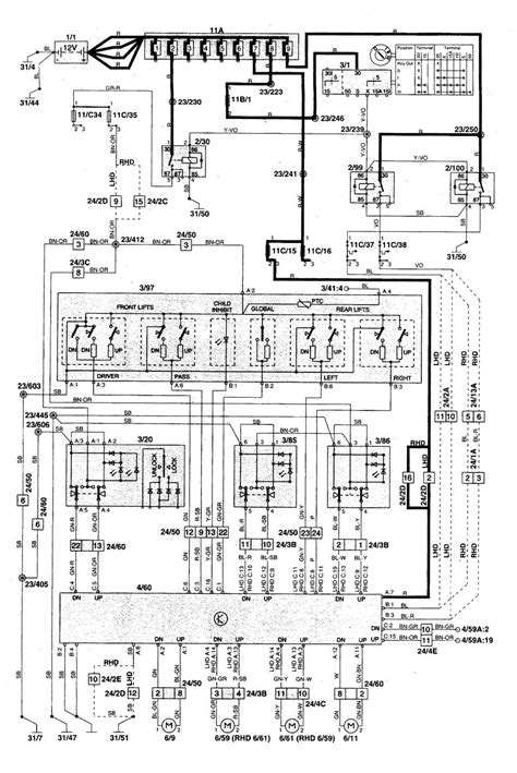 volvo    wiring diagrams power windows carknowledge