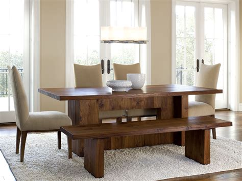 Dining Room Tables With Bench Seating Dining Room Tables With Benches Homesfeed