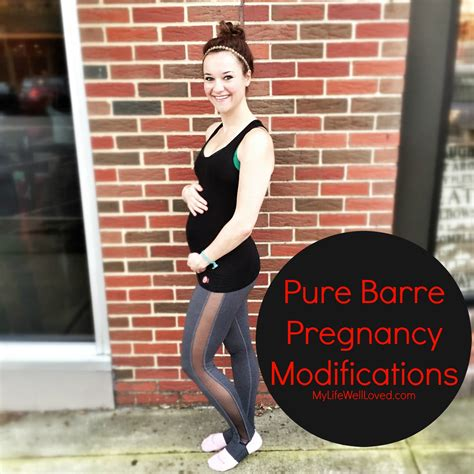 pure barre workout pregnancy modifications  life