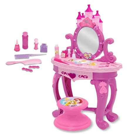 princess makeup table and chair disney princess sparkling light sound vanity set