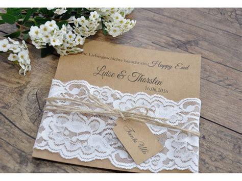 Einladungskarten Hochzeit Wei by Einladungskarte Hochzeit Quot Elegante Stoffspitze Quot In Wei 223