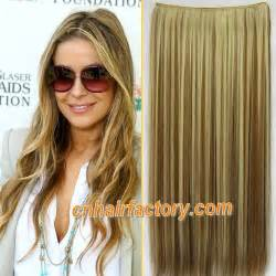 how to hightlight brown hair yourself heat resistant hairpieces 1pcs 24 quot 100g clip in hair