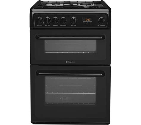 Gas Cooker Buy Hotpoint Hag60k 60 Cm Gas Cooker Black Free