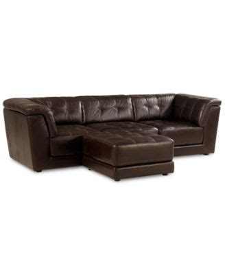 Modular Leather Sectional Sofa Stacey Leather 5 Modular Sectional Sofa 2 Armless Chairs 2 Square Corners And Ottoman