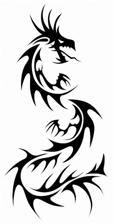 dragon tattoo stencil designs black tribal stencil