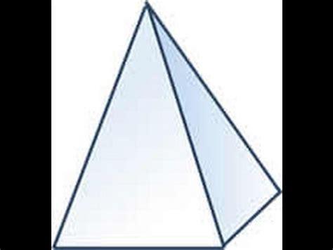 figuras geometricas hechas en cartulina como hacer una pir 225 mide con base cuadrada facil y sencillo