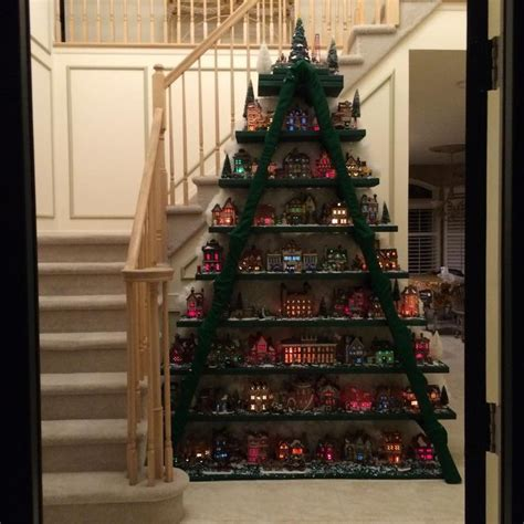 christmas village ladder display 1748 best images about displays on houses