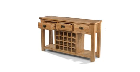 sofa table with wine rack rustic oak wine rack console table lifestyle furniture uk
