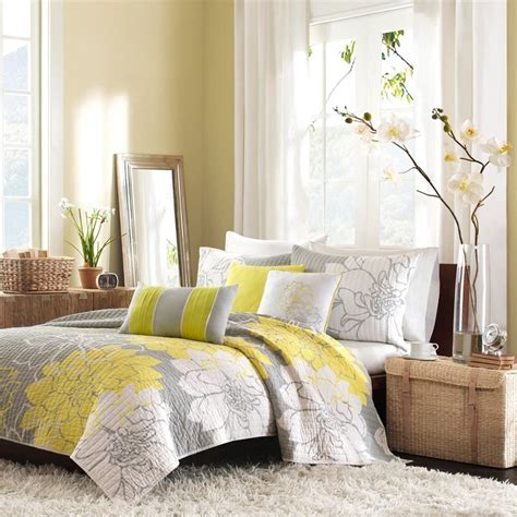 yellow bedrooms images gray and yellow bedroom with calm nuance traba homes