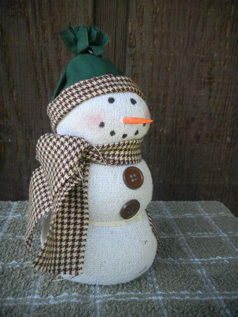 Handmade Snowmen - handmade sock snowman winter snowmen