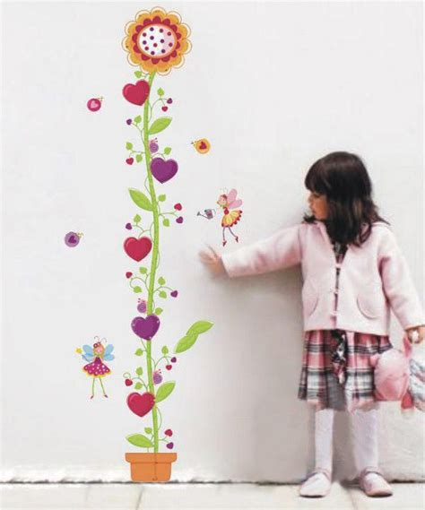 Growth Chart Flower 150cm flower height chart wall decal wall stickers