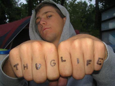 finger tattoo exles slim thug arm tattoos 45 amazing thug life tattoos and ideas
