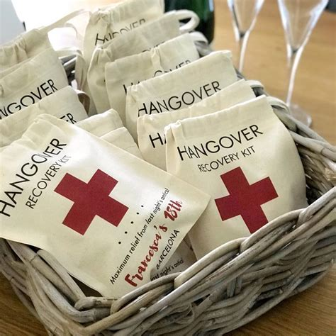 personalised hangover recovery kit bag  tailored