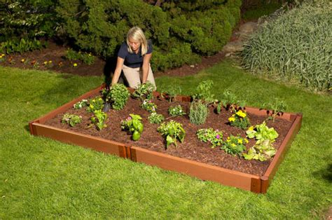 menards raised garden bed frame it all 4 x 8 raised garden bed 2 quot series at menards 174
