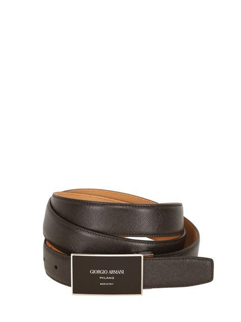 Giorgio Armani Belt Ax006 giorgio armani 30mm saffiano leather belt in brown for lyst