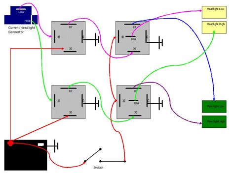 Wiring Plow Lights Hi Low Beam With Relays Plowsite